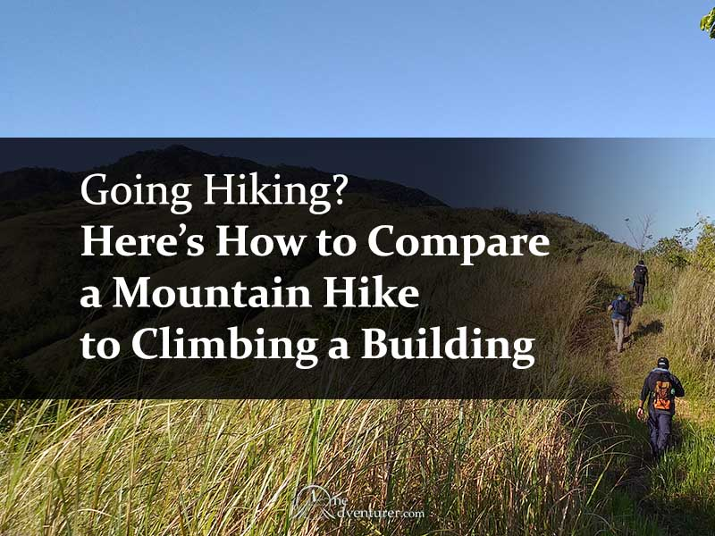 How to Compare a Mountain Hike to Climbing a Building