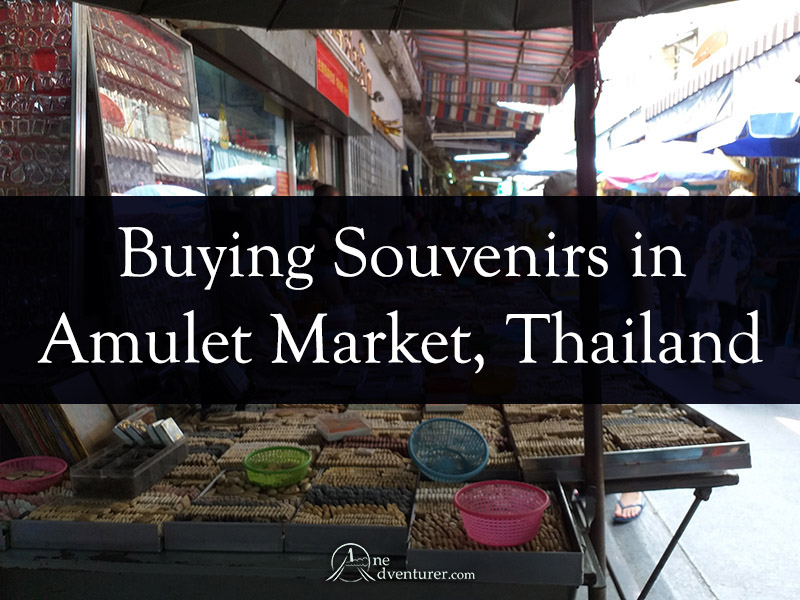 Buying Souvenirs in Amulet Market Thailand