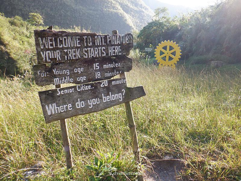 mt pinatubo one adventurer sign